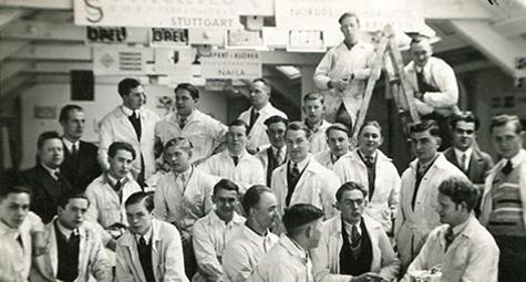 Mitarbeiter des Malerbetriebs Hansmann
