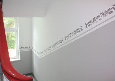 kreative-maltechniken-wandgestaltung-borduere-treppenhaus-2